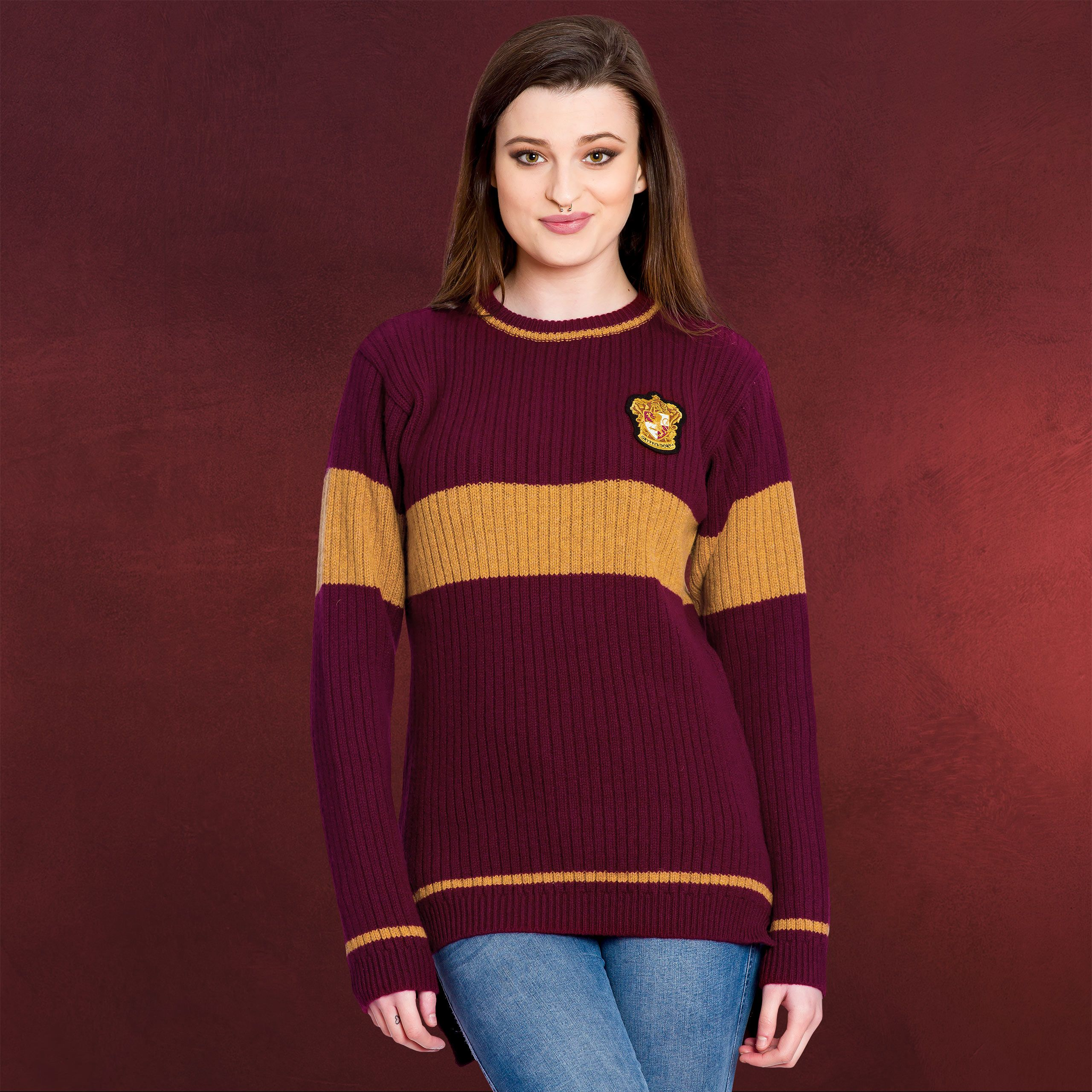 www.elbenwald.de Harry-Potter Harry-Potter-Quidditch-Gryffindor-Sweater b0189d704fb