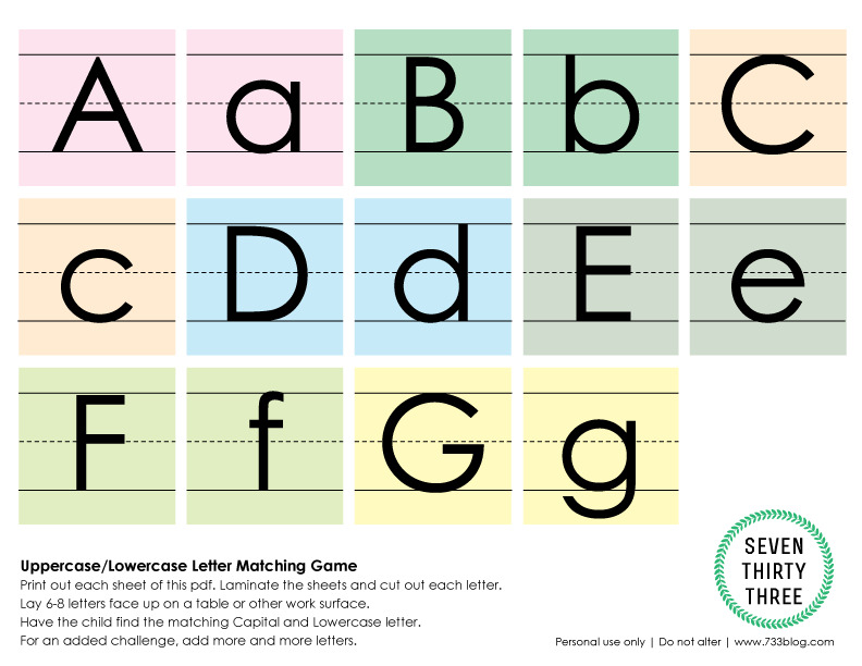 Uppercase/Lowercase Matching Game Free Printable Upper And Lowercase  Letters, Letter Matching Game, Lower Case Letters