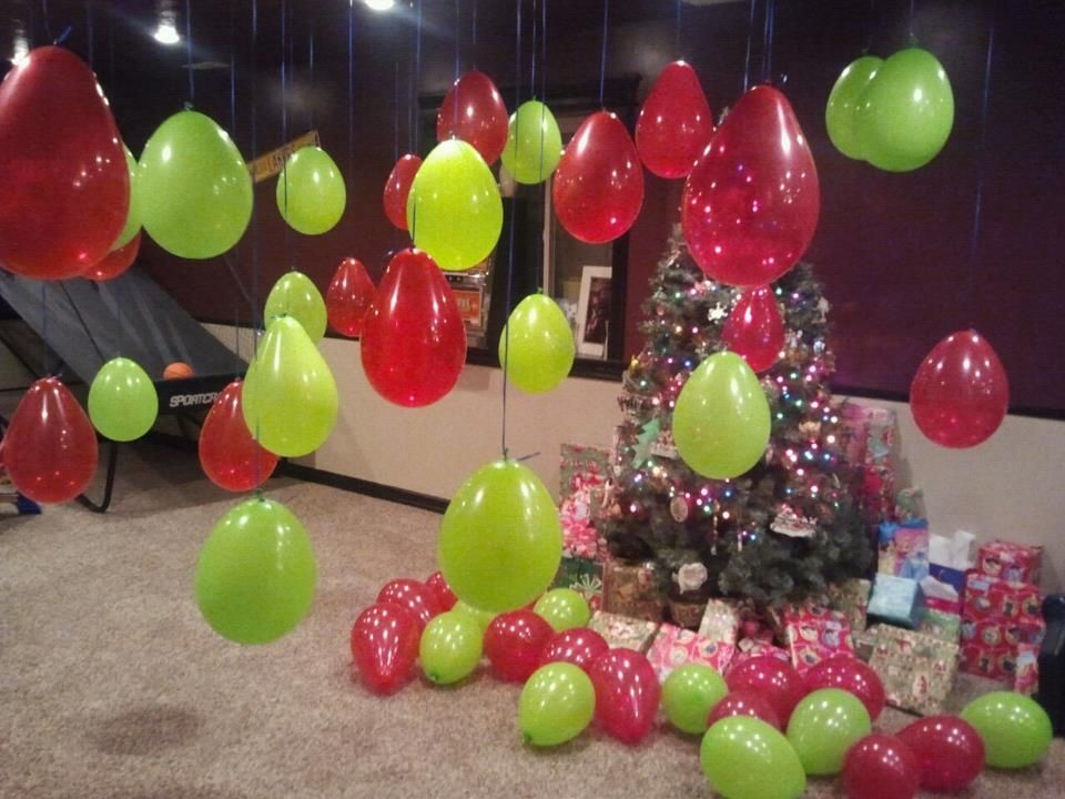 Red And Green Balloons For Happy Birthday Jesus
