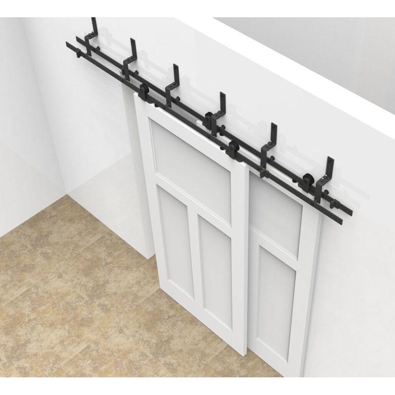 56810 Ft By Pass Sliding Barn Door Hardware Kit Closet Black