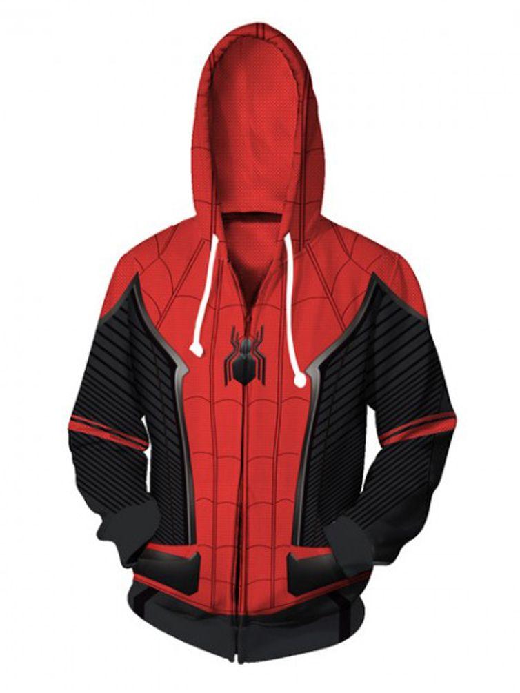 8045ddfb 2019 Spider-Man: Far From Home Costume Sweatshirt Spider Man Hoodie Cosplay  New