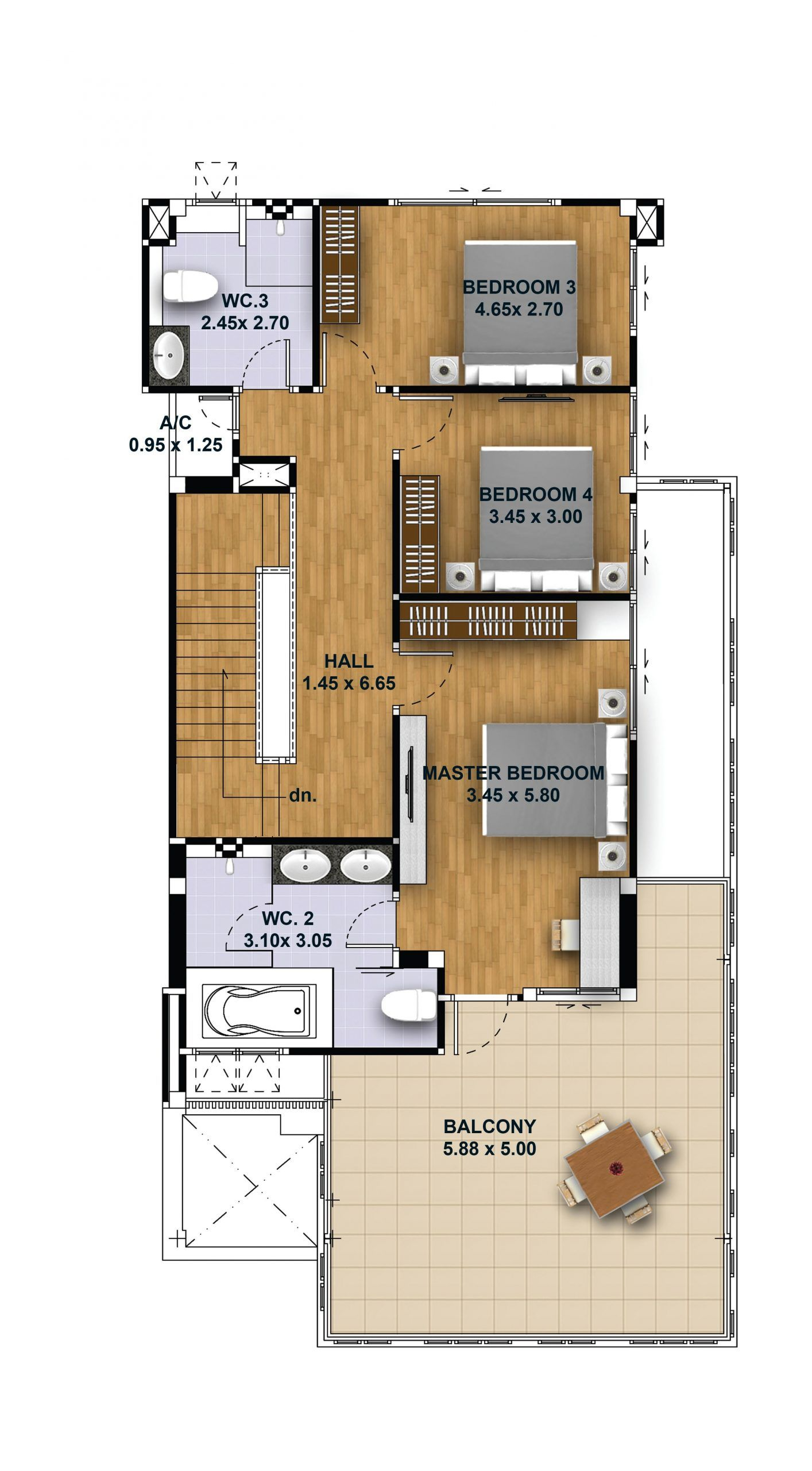 House Design 3d Plot 10x20 With 4 Bedrooms Tiny House Design 3d Model House Plan Tiny House Design House Design