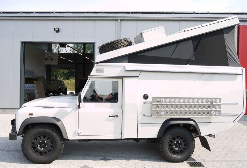 custom campers land rover 110 pick up gel ndewagen. Black Bedroom Furniture Sets. Home Design Ideas