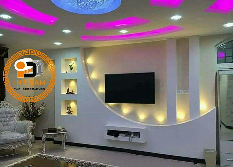 Pin By Abdzah Tlishe Oguz Kuru On Tv Unitesi Nis Modeleri Tv Wall Design Ceiling Design Modern House Ceiling Design