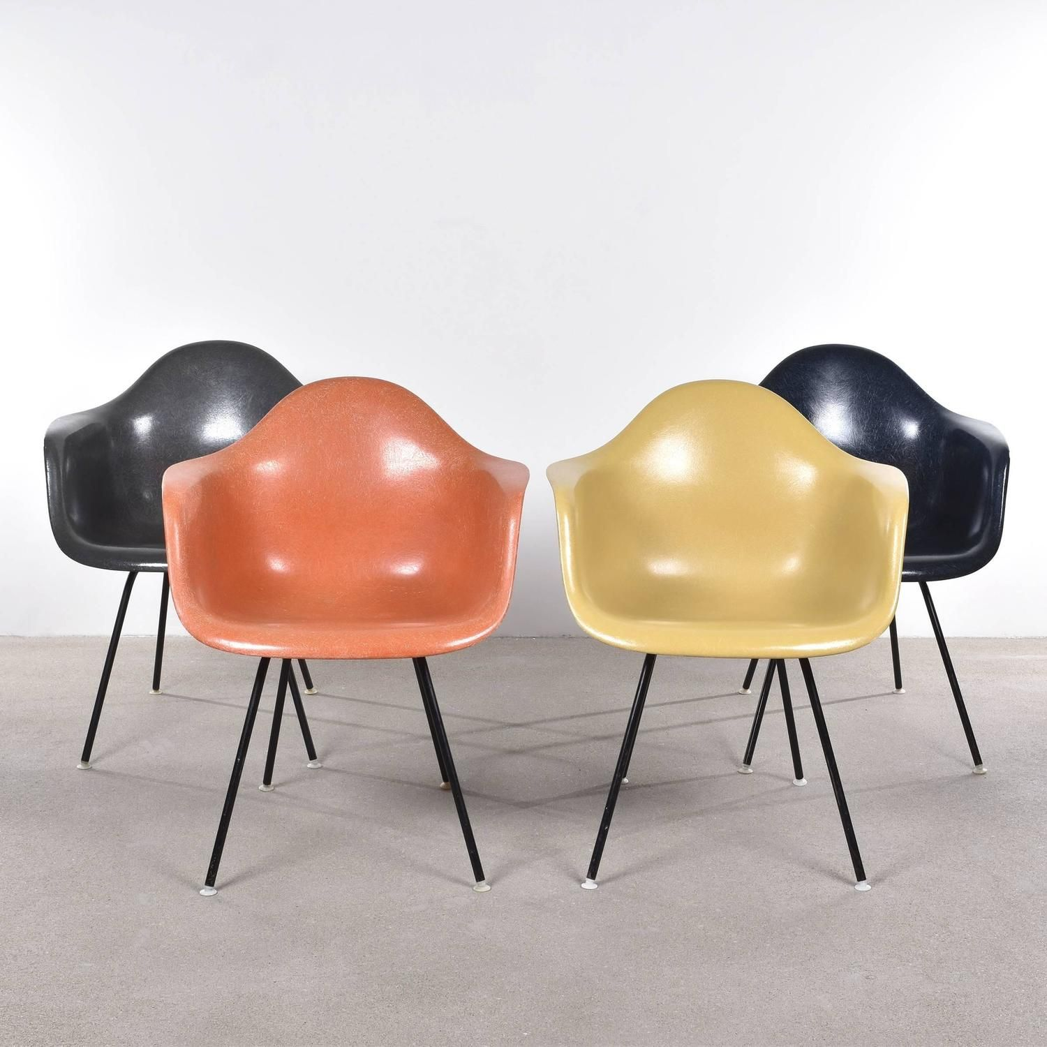Set of Four Eames DAX Herman Miller, USA Dining Chairs (No