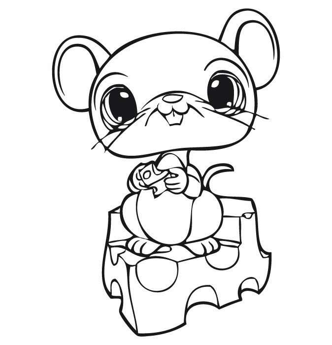 littlest pet shop rat and cheese coloring pages for kids printable littlest pet shop coloring pages for kids - Littlest Pet Shop Coloring Pages