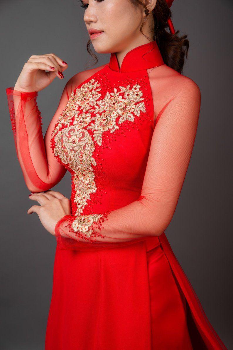 13+ Vietnamese wedding dress red ideas