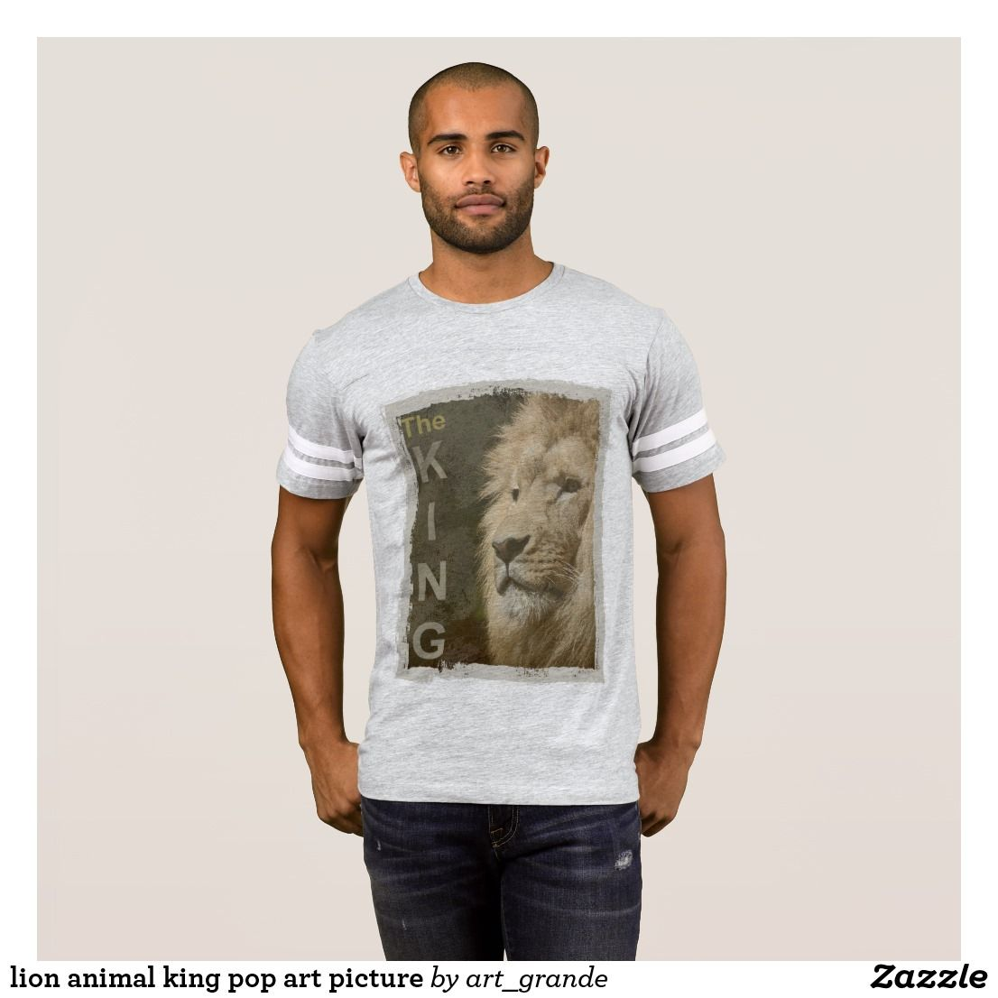 lion animal king pop art picture T-Shirt