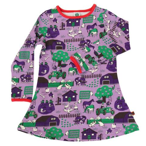 Fun On The Farm Dress Ittikid Scandinavian Children S Clothes Scandinavian Baby And Kids Clothes Unisex Kids Clothes Childrens Clothes Childrens Fashion