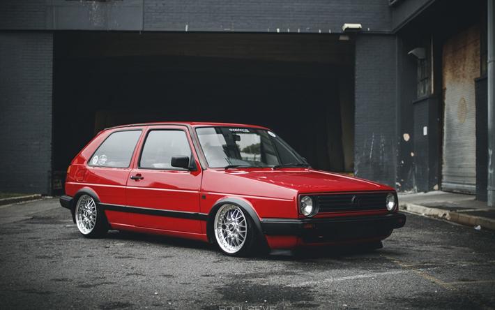 Inteligentny Download wallpapers Volkswagen Golf, tuning, mk2, stance, german GP94