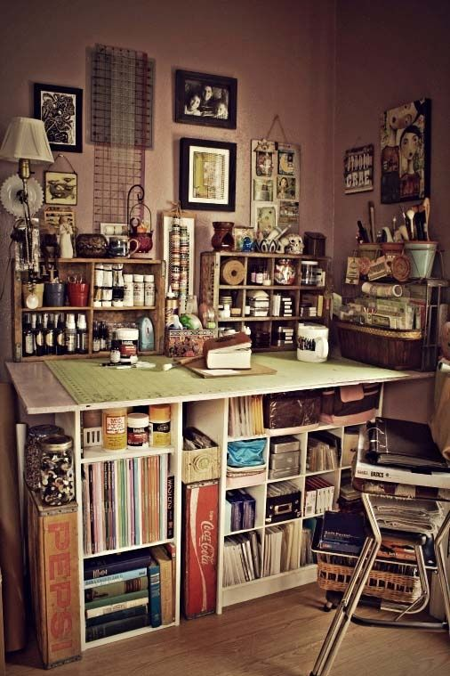 pingl par jamie kelman sur organizing an art studio pinterest atelier atelier cr atif et. Black Bedroom Furniture Sets. Home Design Ideas