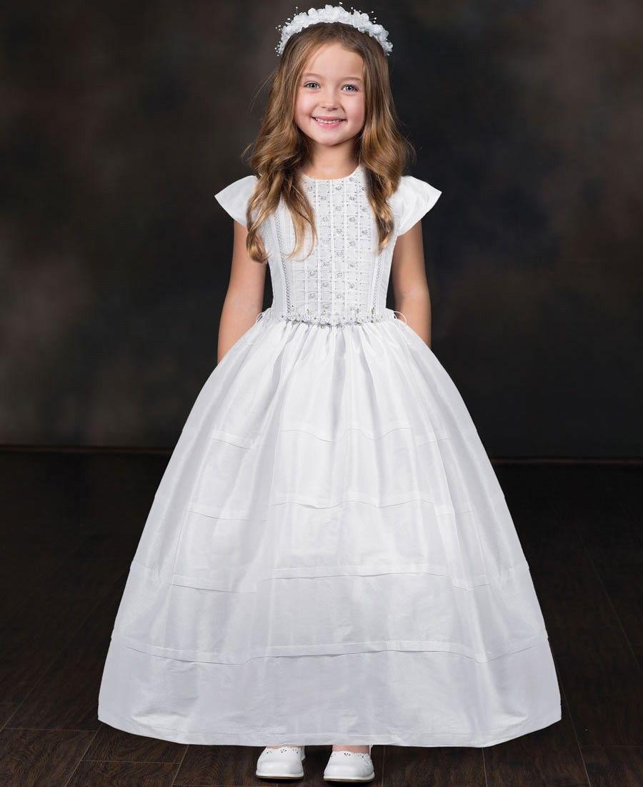 Milly White Traditional Classic Communion Dresswhite Classic Style First Holy Communion Dress With Cap White Flower Girl Dresses Girls Formal Dresses Dresses [ 1101 x 900 Pixel ]