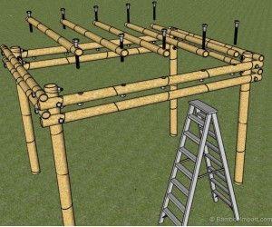 hoe bouw je een bamboe pergola bamboo bambou pergola. Black Bedroom Furniture Sets. Home Design Ideas