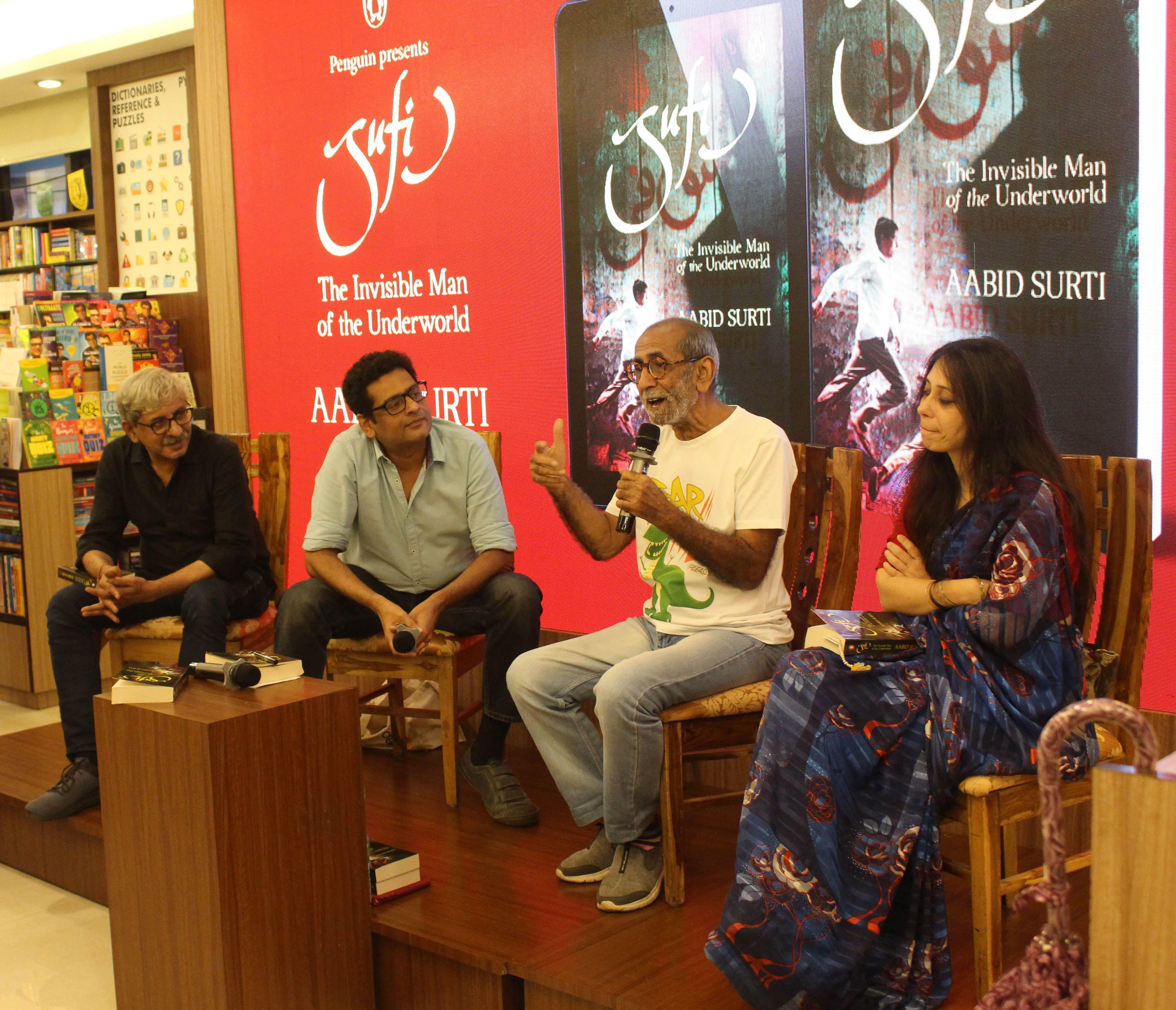 Sriram Raghavan Shridhar Raghavan Aabid Surti And Annie Zaidi At Aabid Surti S Sufi The Invisible Man Of The Under Underworld Book Invisible Man Underworld