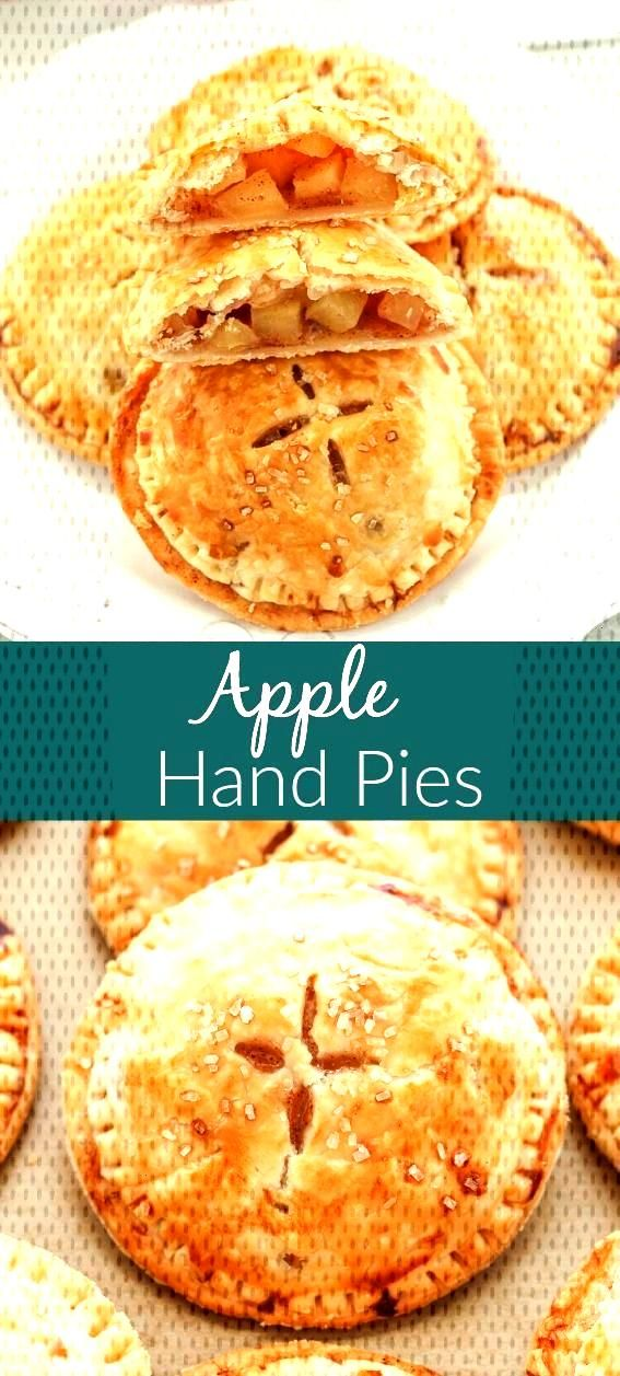 Surrounded by a buttery, flaky pie crust, these Apple Hand Pies contain a sweet apple pie filling.