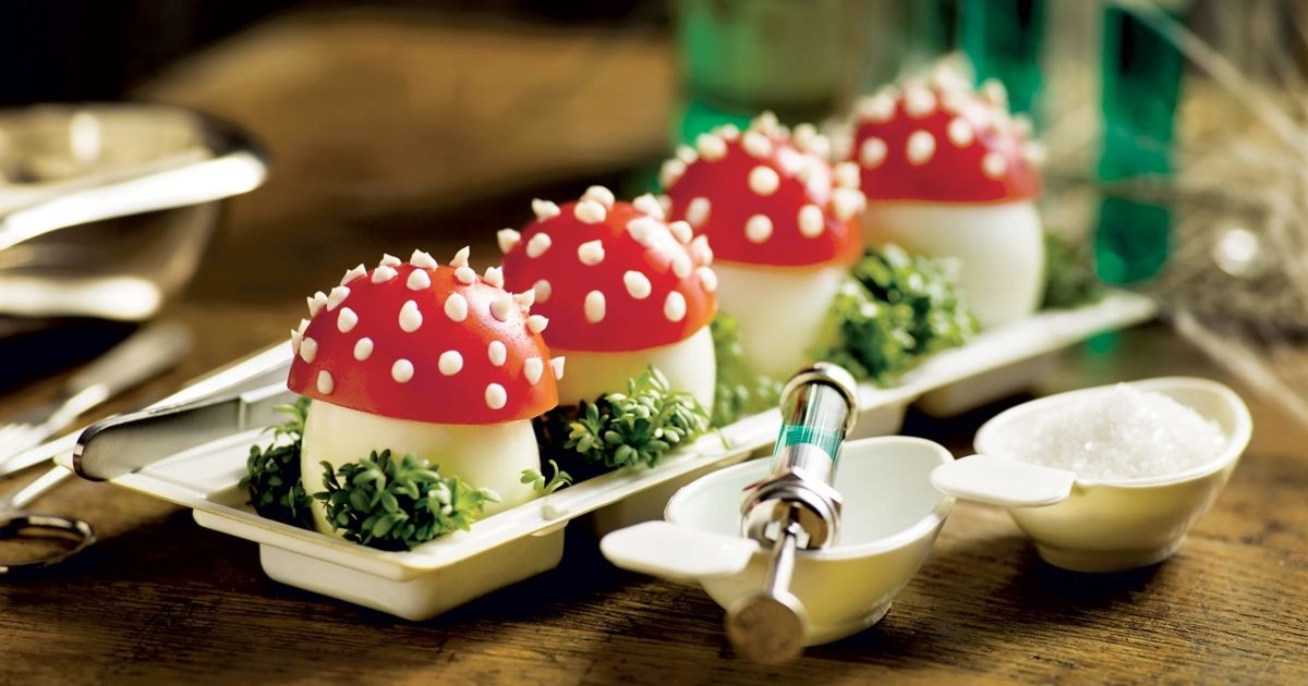 recette enchantée de champignons vénéneux à base d'œufs ...