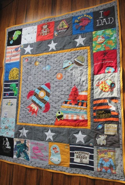 Custom Memory Quilt using baby clothes or old keepsake clothing ... : custom baby clothes quilt - Adamdwight.com