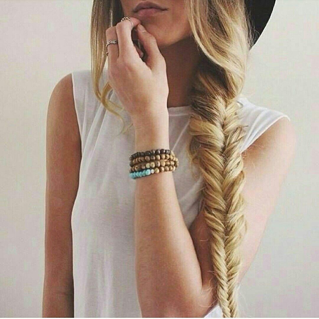 Fishtail Braid Grab Our Full Head Clip In Human Hair Extensions To