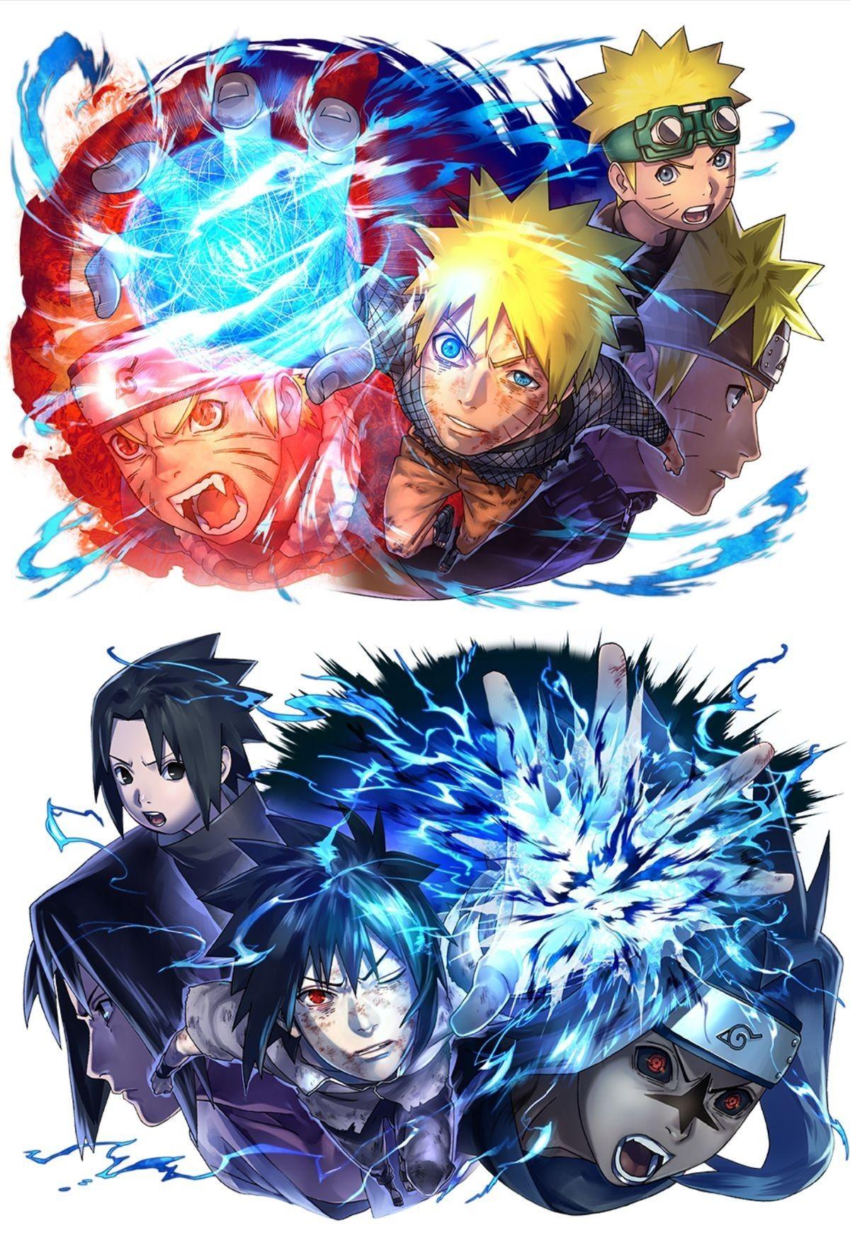 Naruto Sasuke Naruto Vs Sasuke Anime Naruto Naruto Minato