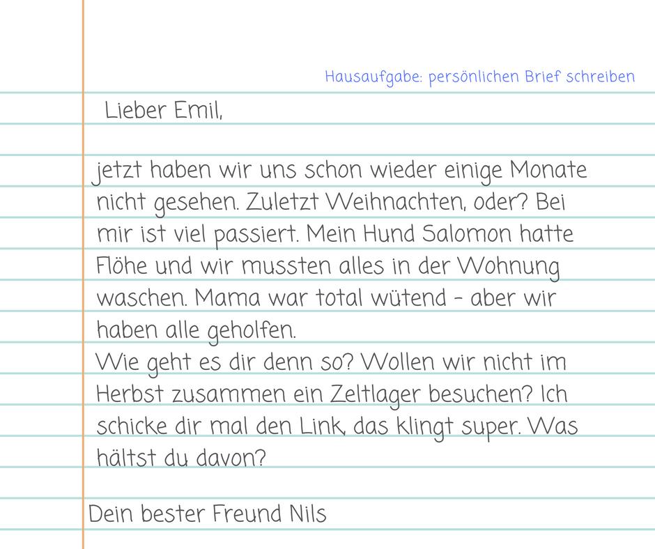 An freund brief schreiben einen einen Beispiel englischer