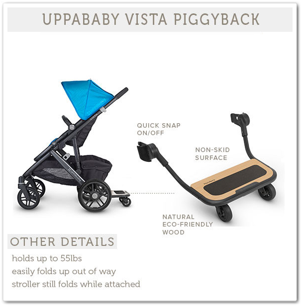 cool UPPAbaby PiggyBack Trip Alongside Skate Board (Vista
