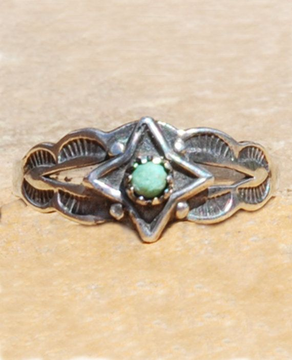 Vintage Bell Trading Post Turquoise Sterling By