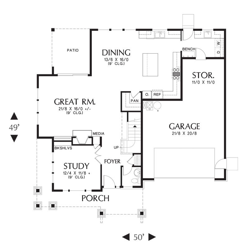 Mascord House Plan 22199 The Hood River Craftsman Style House Plans Craftsman House Plans House Plans