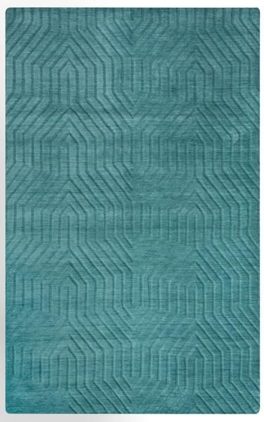 Rizzy Technique Tc8577 Area Rug Wool Area Rugs Teal Area Rug
