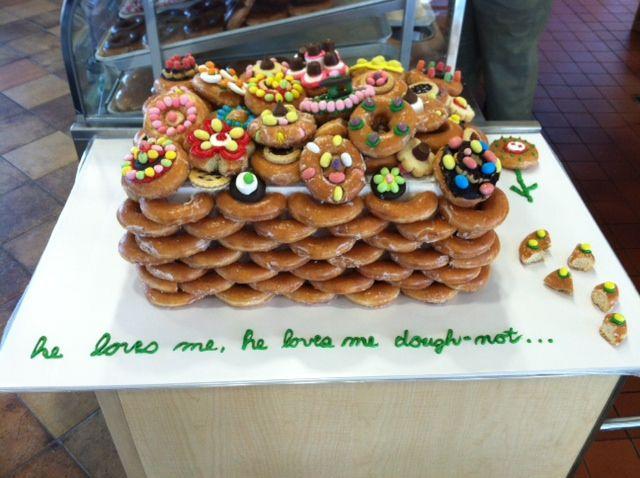 Fans decorated Krispy Kreme Doughnut cakes to celebrate the re ...