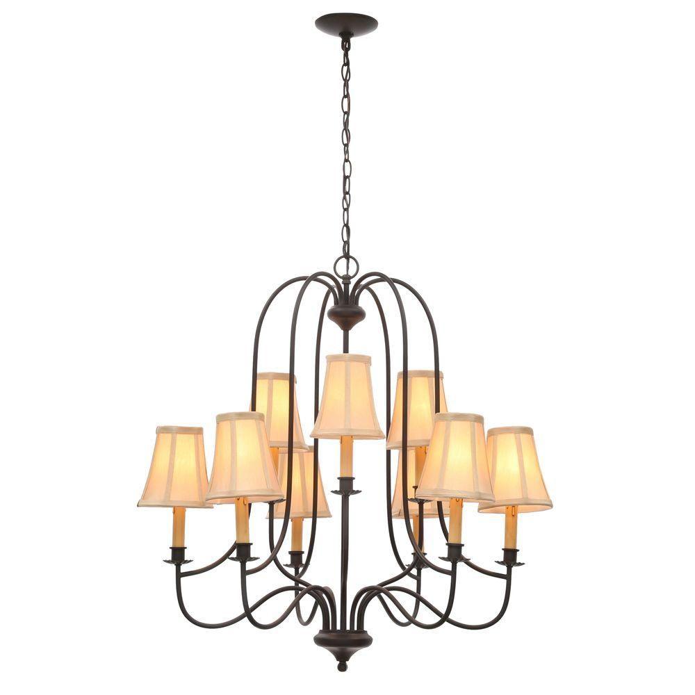 World Imports Brondy 9-Light Aged Ebony Chandelier-WI374934 - The Home Depot