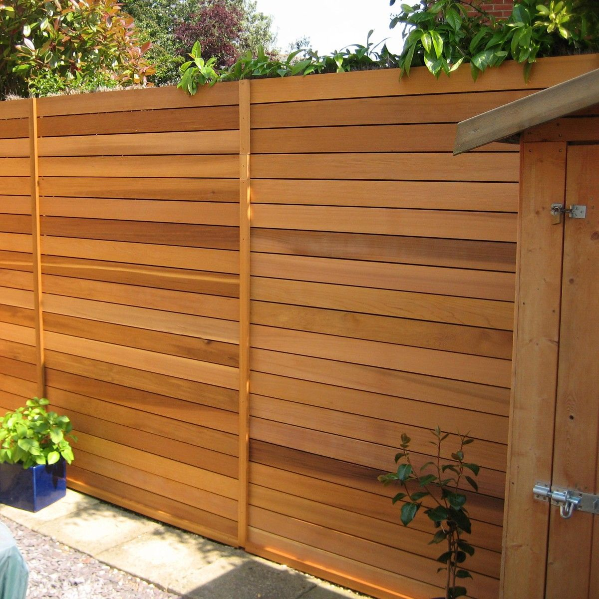 Image Of Cedar Fence Panels Slatted Fence Panels Cedar