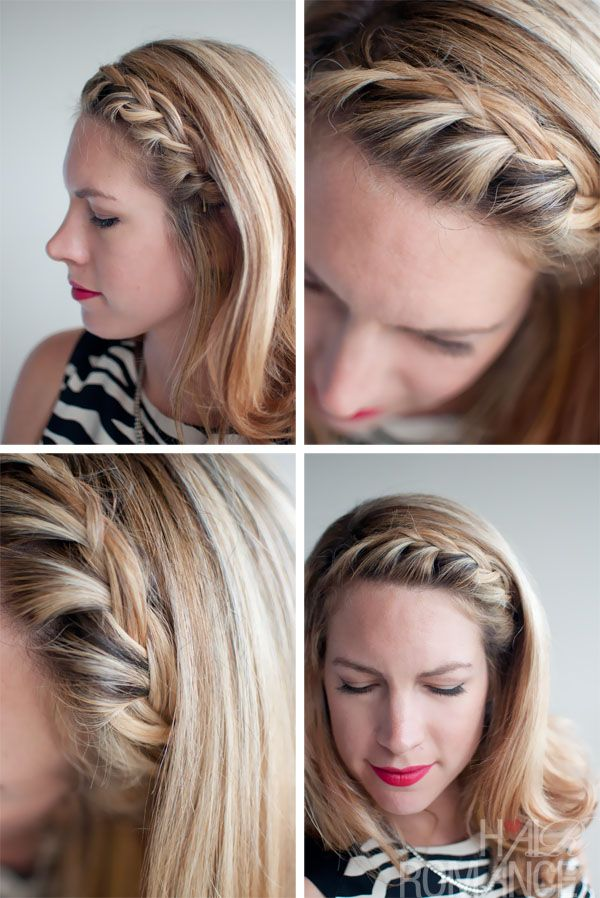 Hair Inspirations Pretty French Braided Fringebangs Hair Trends