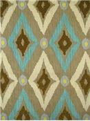 Fabric - Robert Allen Pool & Aqua Fabric - Modern Ikat Pool