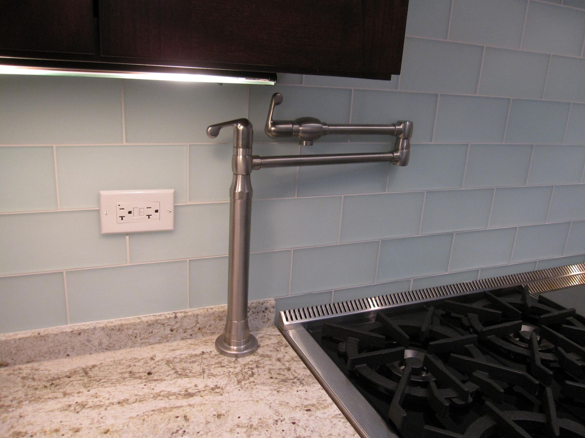 Countertop Mounted Pot Filler Faucet I Wonder If It Could Slide