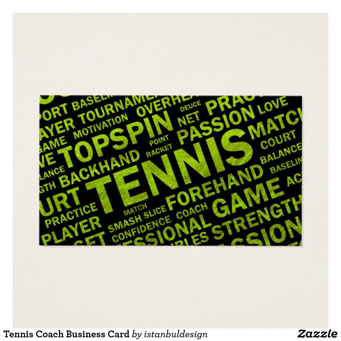 Tennis Coach Business Card   Pinterest   Business cards