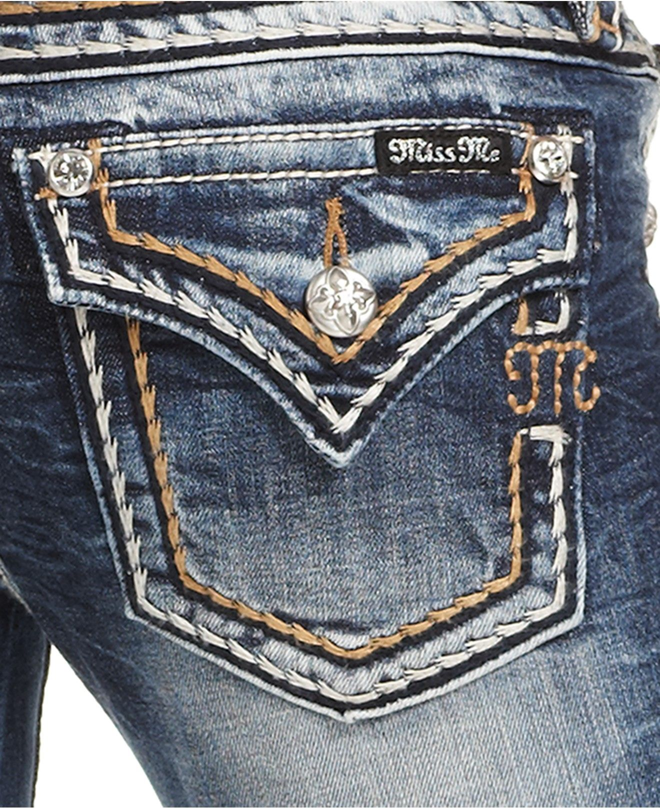 a852b8acd7 Miss Me Embellished Bootcut Jeans - Miss Me - Women - Macy s