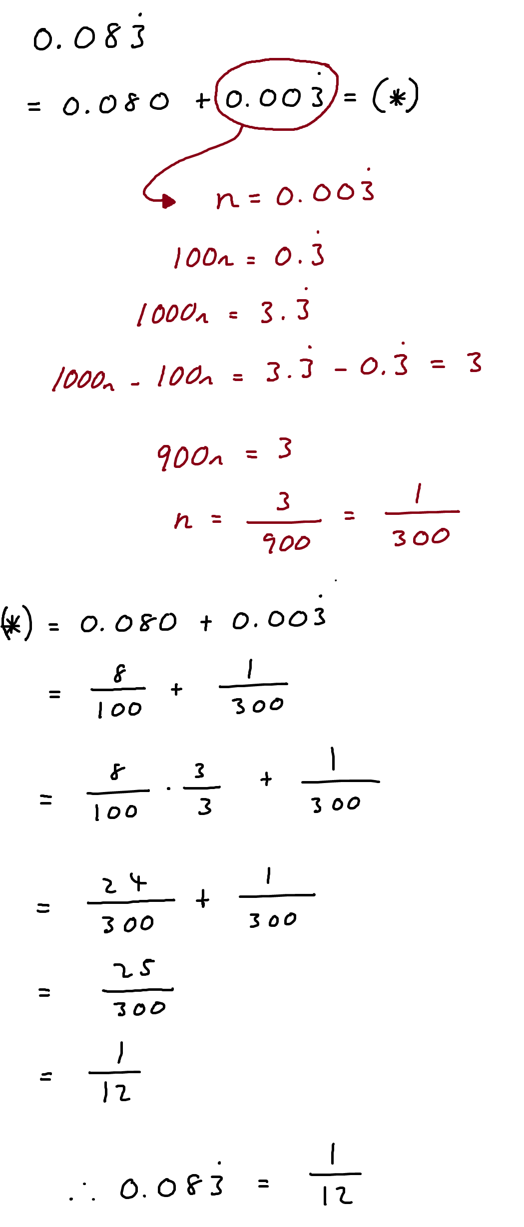Decimal Into Fraction
