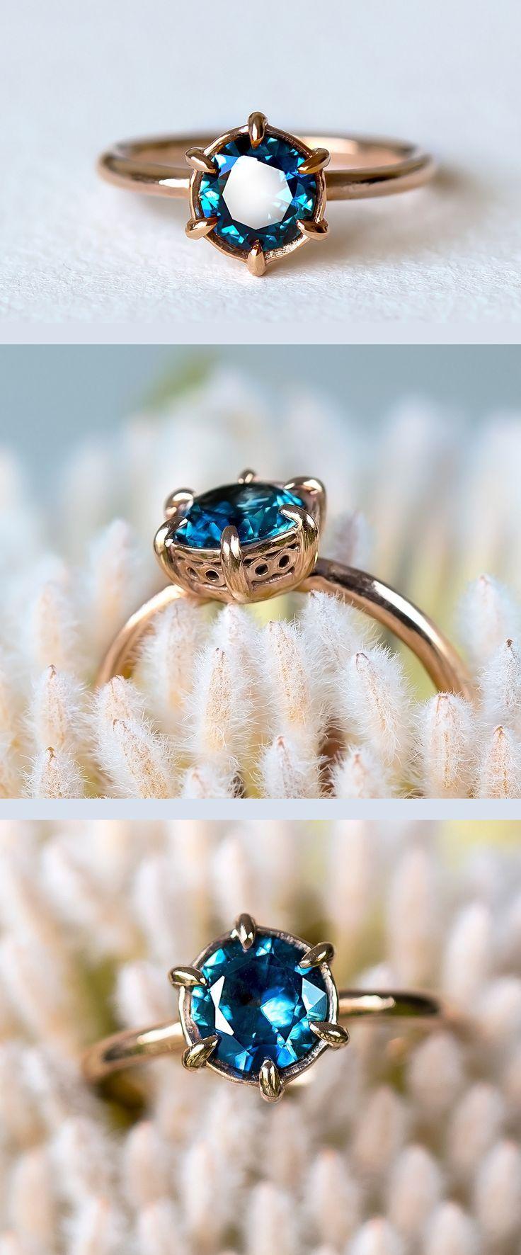 carat montana sapphire lila ring dark pinterest rings