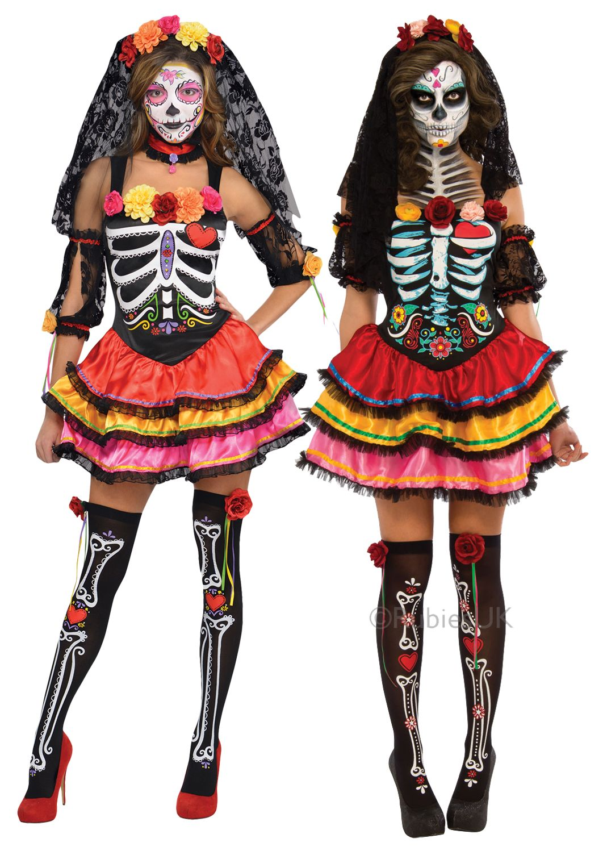 5541dcf8c8e7 Day of the Dead Senorita Costume | All Ladies Halloween Costumes | Mega  Fancy Dress