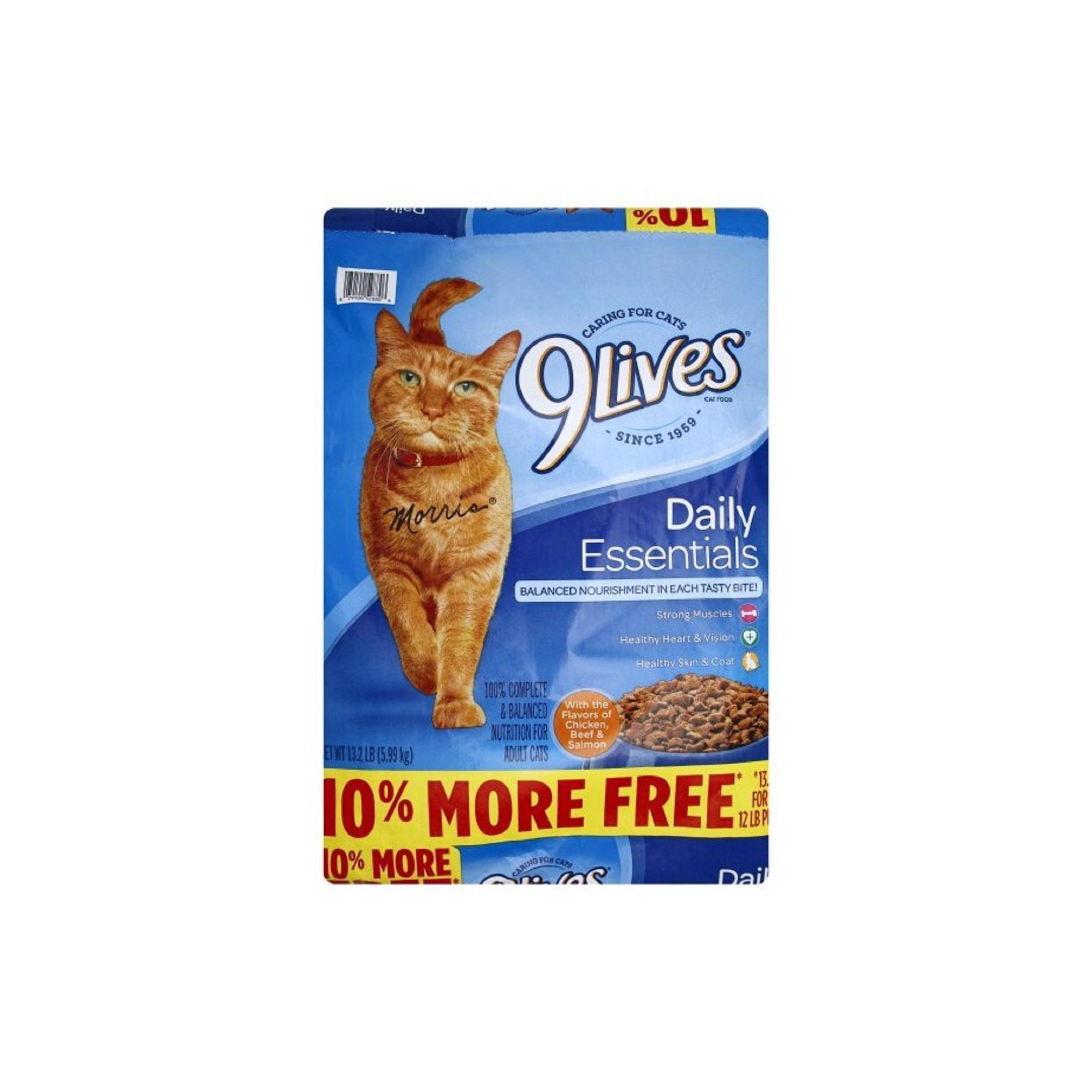 9lives Daily Essentials Salmon Chicken Beef Dry Cat Food