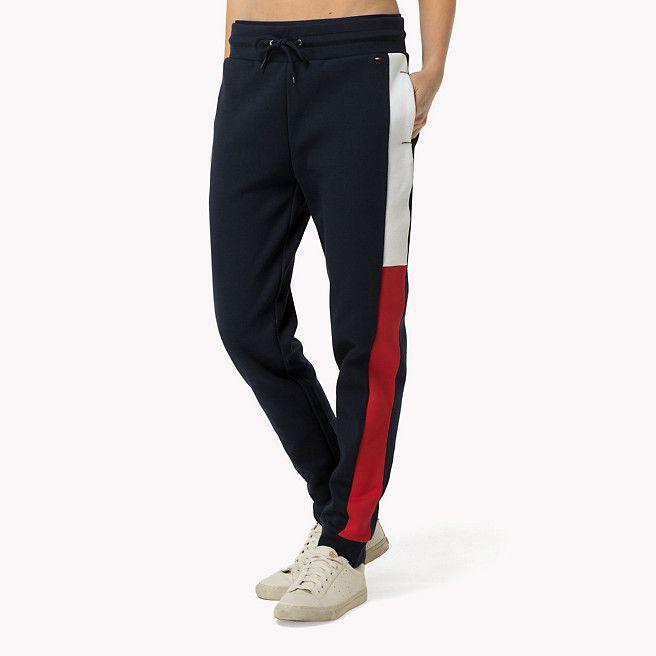 Tommy Hilfiger Pantalon De Jogging En Mélange De Coton - navy blazer-pt ( Bleu) - Tommy Hilfiger Pantalons - image principale faddd824307