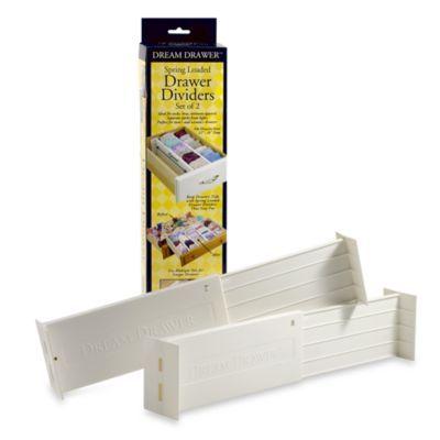 Dream Drawer Expandable Spring Loaded Drawer Dividers Set Of 2 Drawer Dividers Dresser Organization Drawers