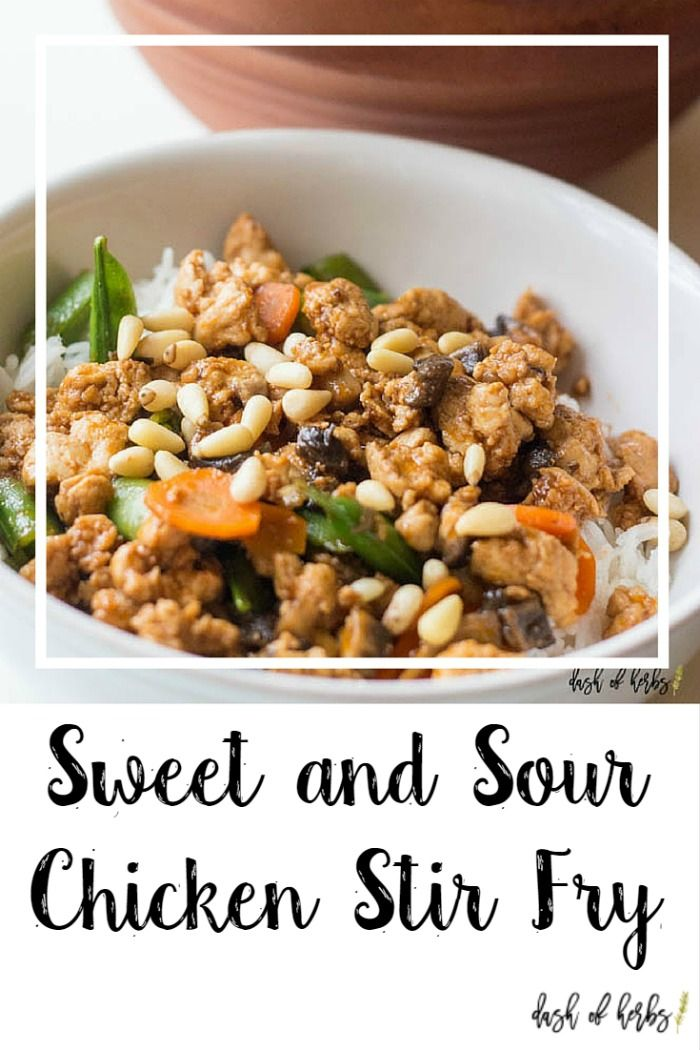 Lightened Sweet and Sour Chicken Stir Fry - Dash of Herbs