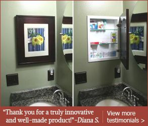 Charmant Recessed Medicine Cabinets With Picture Frame Doors | Mirrorless Medicine  Cabinets   Concealed Cabinets