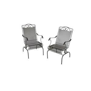 Plantation Patterns Napa 2 Piece Wrought Iron Dynalounge Patio Chair Set  1 10