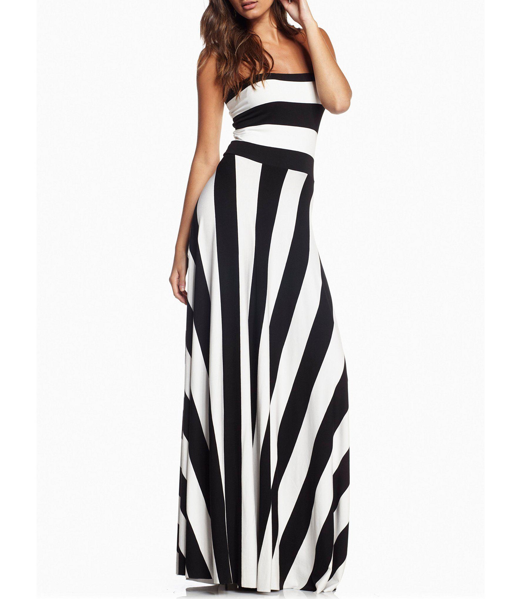 Elan Stripe Convertible Strapless Maxi Dress Dillard S In 2021 Black White Maxi Dress Maxi Dress Spring Maxi Dress [ 2040 x 1760 Pixel ]