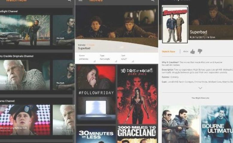 Free movie app Sony Crackle screenshots Movies by genre