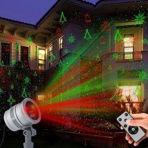Top 10 Best Outdoor Laser Christmas Light Projectors In 2019 Reviews Laser Christmas Lights Landscape Spotlights Christmas Light Projector