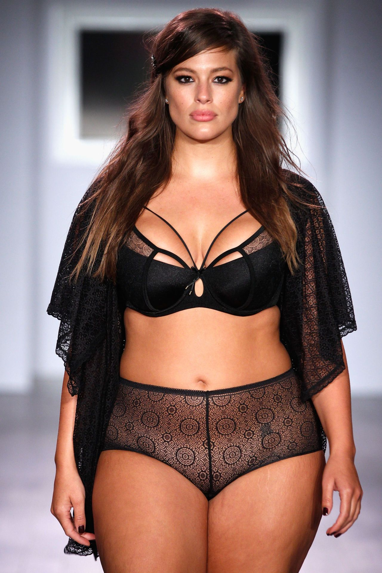 b9feddf749 Ashley Graham Plus-Size Model Interview on Addition Elle Lingerie Collection-Spring  2016 New York Fashion Week