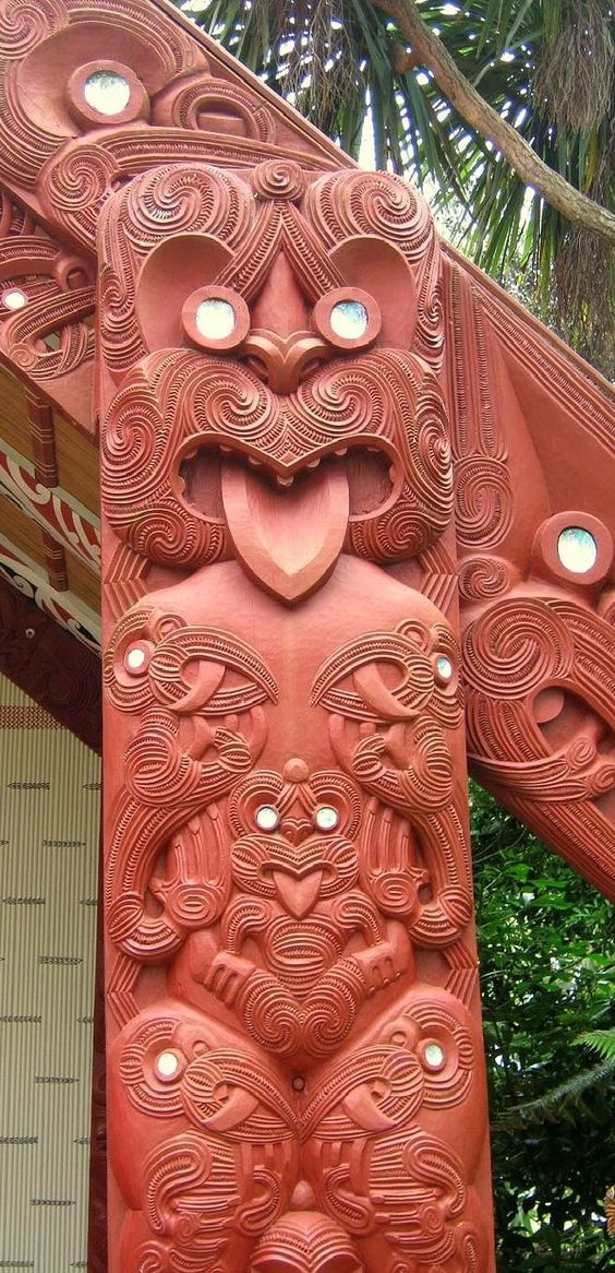 Maori Carving - Bay of Islands, New Zealand: